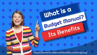 budget manual and its advantages