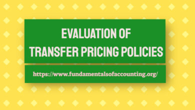 evaluation of transfer pricing policies