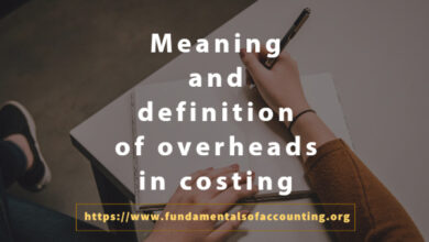 meaning and definition of costing