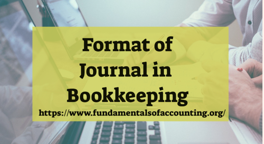 format of journal