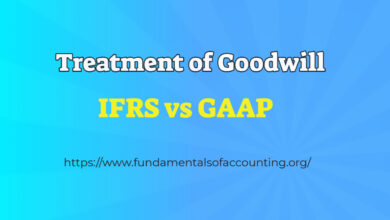 treatment of goodwill ifrs vs gaap