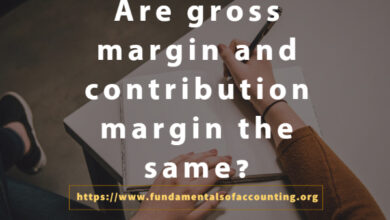 gross margin and contribution margin