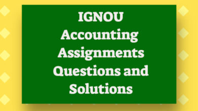 IGNOU Assignment