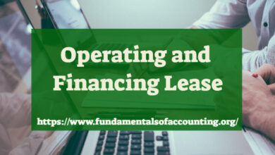 operating and financing lease