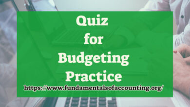 quiz for budgeting practice