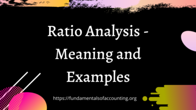 Ratio Analysis - Meaning and Examples