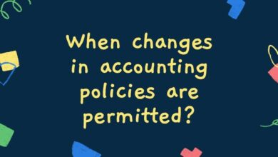 When changes in accounting policies are permitted