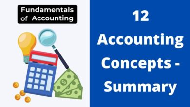 12 Accounting Concepts - Summary